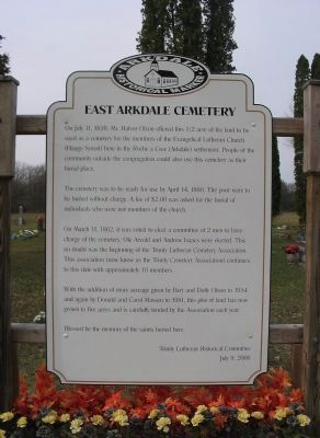 East Arkdale Cemetery Marker image. Click for full size.