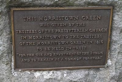 Morristown Green Marker image. Click for full size.