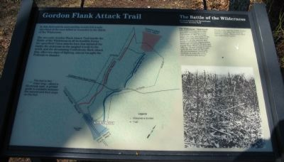 Gordon Flank Attack Trail Marker image. Click for full size.