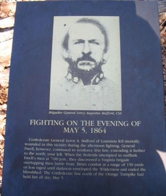 Fighting on the Evening of May 5, 1864 Marker image. Click for full size.
