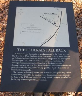 The Federals Fall Back Marker image. Click for full size.