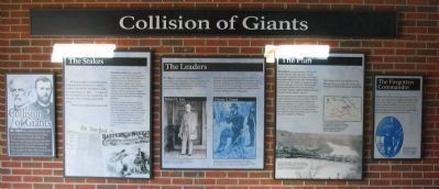 Collision of Giants - The North Wall of the Exhibit Shelter image. Click for full size.
