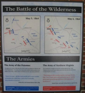 Battle of the Wilderness Marker Photo, Click for full size