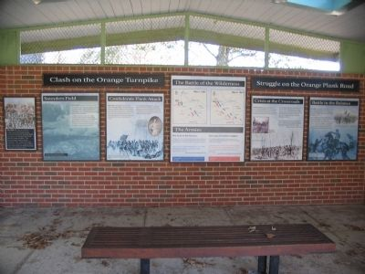 East Wall of the Exhibit Shelter Photo, Click for full size