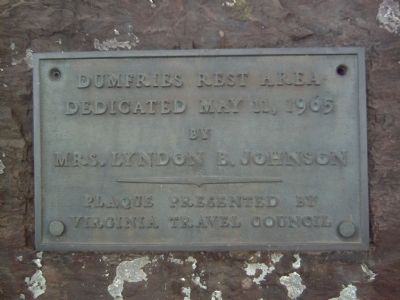Dumfries Rest Area Marker Photo, Click for full size