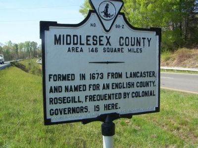 Middlesex County Marker image. Click for full size.