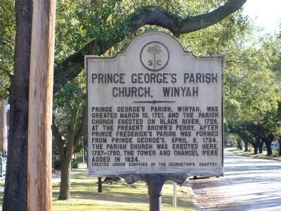 Prince George's Parish Church, Winyah Marker image. Click for full size.