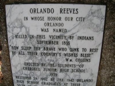 Orlando Reeves Marker image. Click for full size.