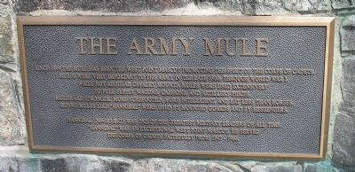 The Army Mule Marker Photo, Click for full size