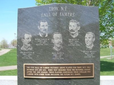 Troy, N.Y. Hall of Famers image. Click for full size.