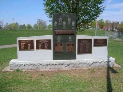 Troy's Baseball Heritage Monument image. Click for full size.