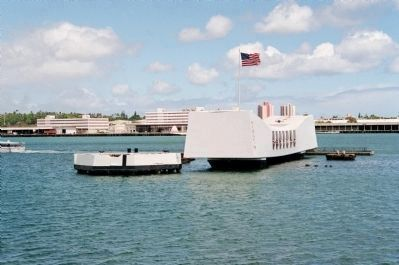 A view of the USS <i>Arizona</i> Memorial image, Click for more information