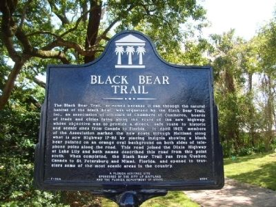 Black Bear Trail Marker image. Click for full size.