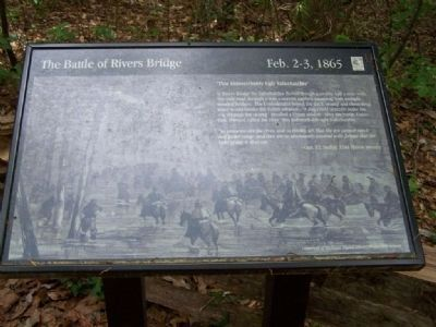 "Battle of Rivers' Bridge ""This Indescribably Ugly Salkehatchie "" Marker image. Click for full size."