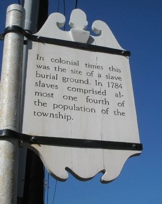 Slave Burial Ground Marker image. Click for full size.
