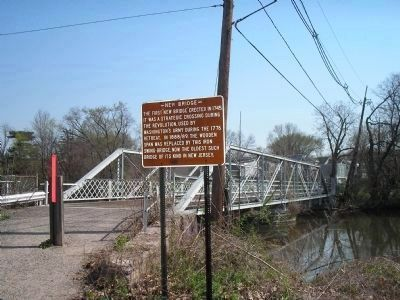 Marker on west side of bridge Photo, Click for full size