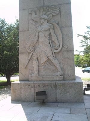 Detail of Camp Merritt Monument Photo, Click for full size