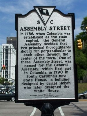 Assembly Street Marker image. Click for full size.