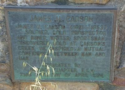 James H. Carson Marker Photo, Click for full size