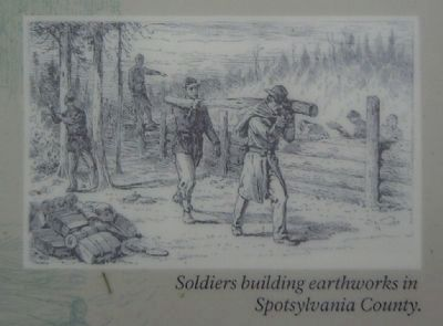 Soldiers Building Earthworks in Spotsylvania County Photo, Click for full size