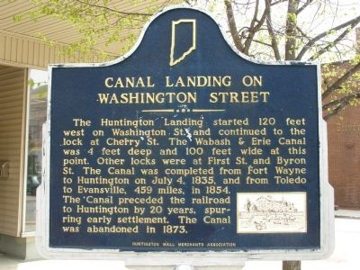 Canal Landing on Washington Street Marker image. Click for full size.