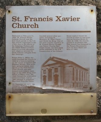 St. Francis Xavier Church Marker Photo, Click for full size