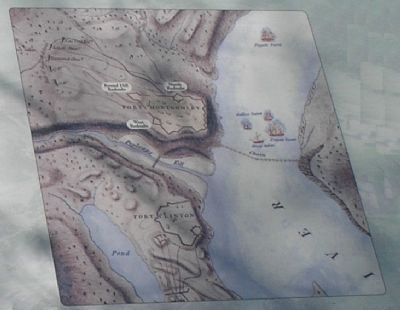 Detail of Battle Map from Marker Photo, Click for full size