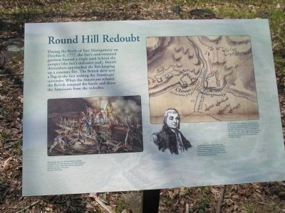Round Hill Redoubt Marker Photo, Click for full size