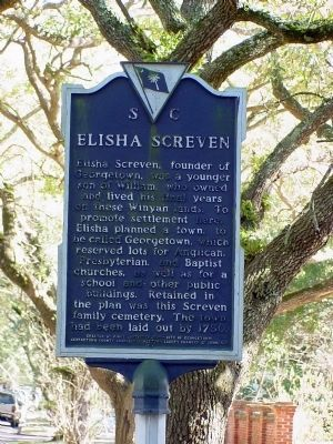 Elisha Screven Side of Marker Photo, Click for full size