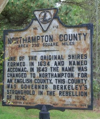 Northampton County side of marker. image. Click for full size.