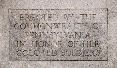 Inscription on the front of the marker, lower half. image. Click for full size.