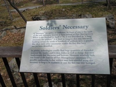 Soldiers� Necessary Marker Photo, Click for full size