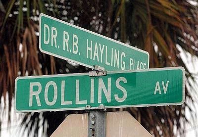 Street Named in Honor of Dr. Robert B. Hayling image. Click for full size.