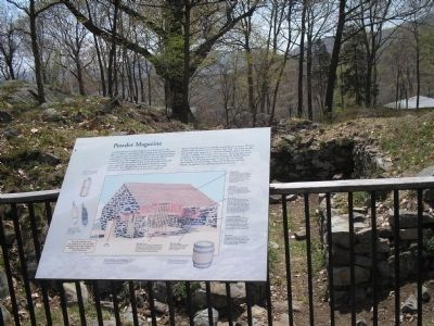Marker with Powder Magazine Ruins Photo, Click for full size