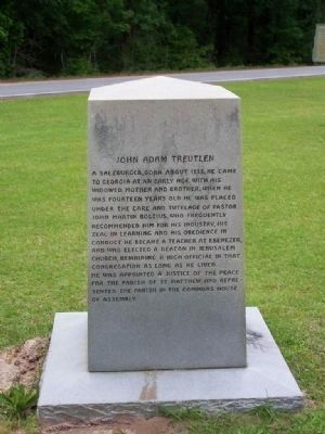 John Adam Treutlen Marker </b>(North Face) image. Click for full size.