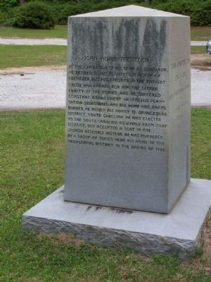 John Adam Treutlen Marker, </b>(West face) image. Click for full size.