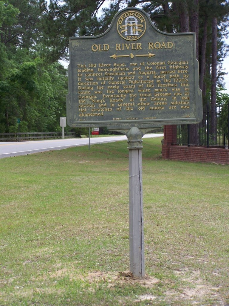 Old River Road Marker