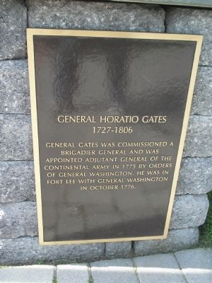 General Horatio Gates Marker image. Click for full size.