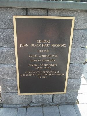 "General John ""Black Jack"" Pershing Marker image. Click for full size."