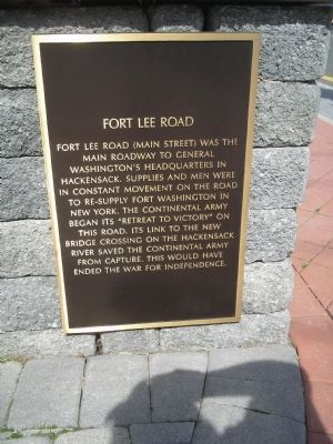Fort Lee Road Marker Photo, Click for full size