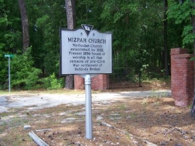 Mizpah Church Marker image. Click for full size.