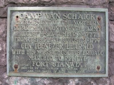 Camp Van Schaick - Van Schaick Island, Cohoes, NY image. Click for full size.