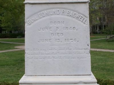Genl. Edmund R. Bagwell Marker image. Click for full size.