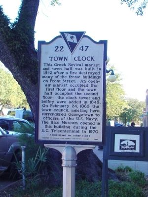 Town Clock Side of Marker image. Click for full size.