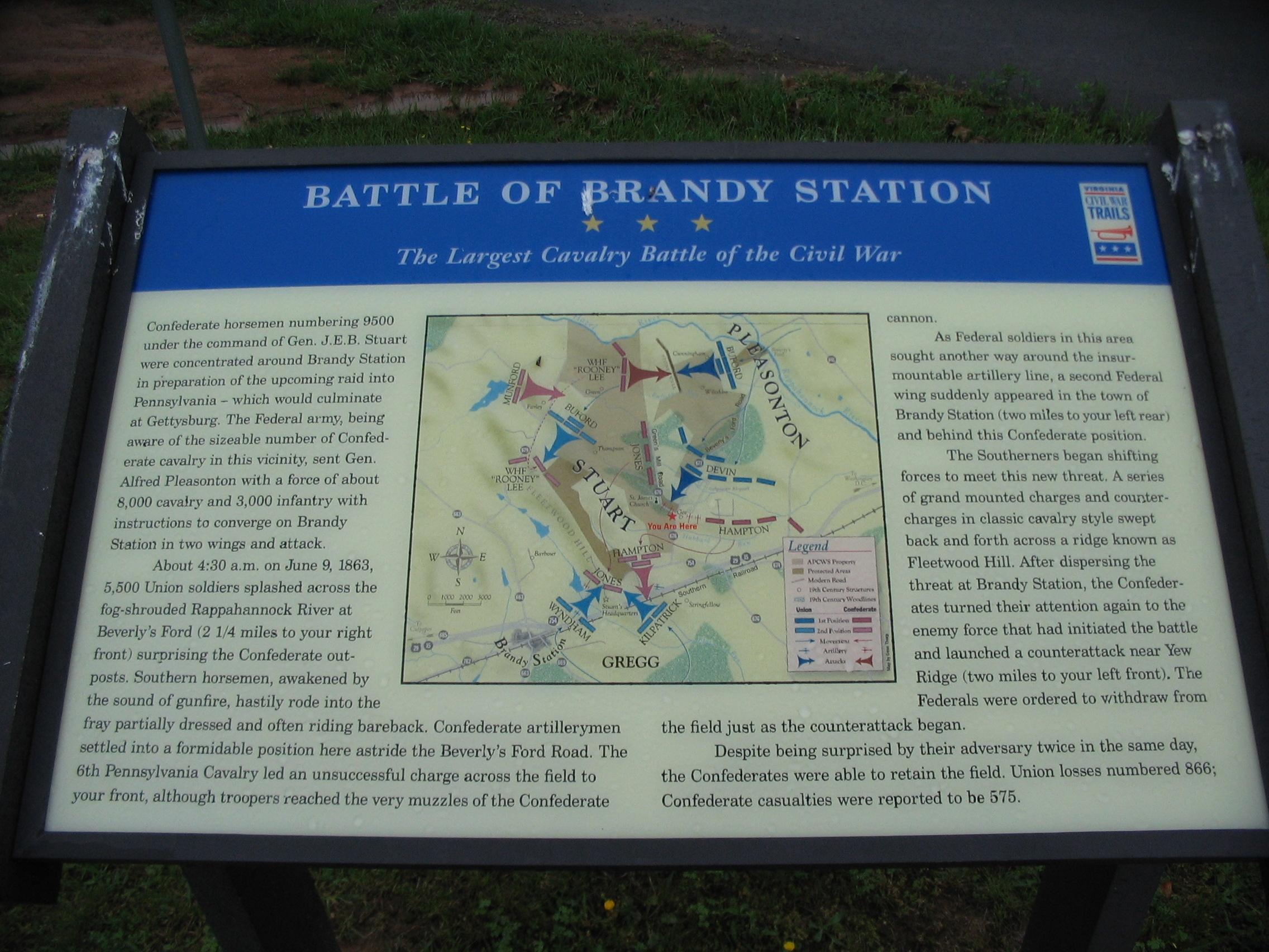 The Restored Brandy Station Marker