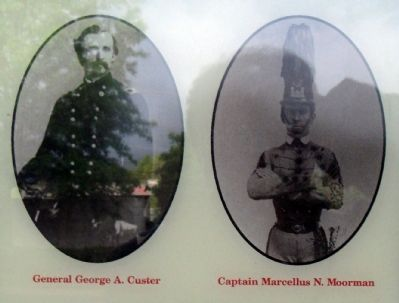 General George A, Custer and Captain Marcellus N. Moorman Photo, Click for full size