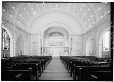 Interior of the First Unitarian Church. image. Click for full size.