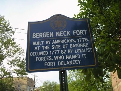 Bergen Neck Fort Marker Photo, Click for full size
