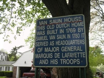Van Saun House Marker image. Click for full size.