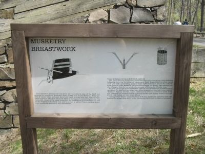 Musketry Breastwork Marker image. Click for full size.